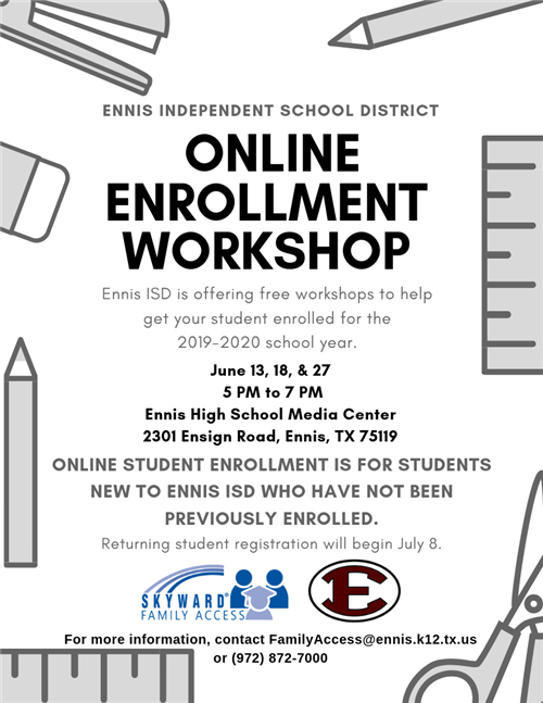 Online Enrollment Workshop Flyer